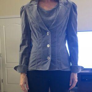 WHBM Velvet Gray Jacket